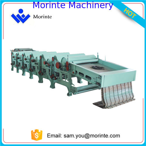 Six roller fabric waste recycling machine