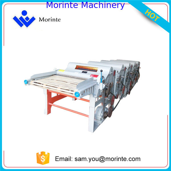 Textile fabric waste recycling machine