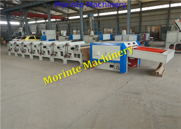 8 rollers cotton waste recycling machine yarn waste processing for yarn making