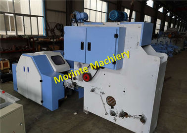 China Morinte Lab digital carding machine used for carding cotton / wool / polyester fiber sliver web output distributor