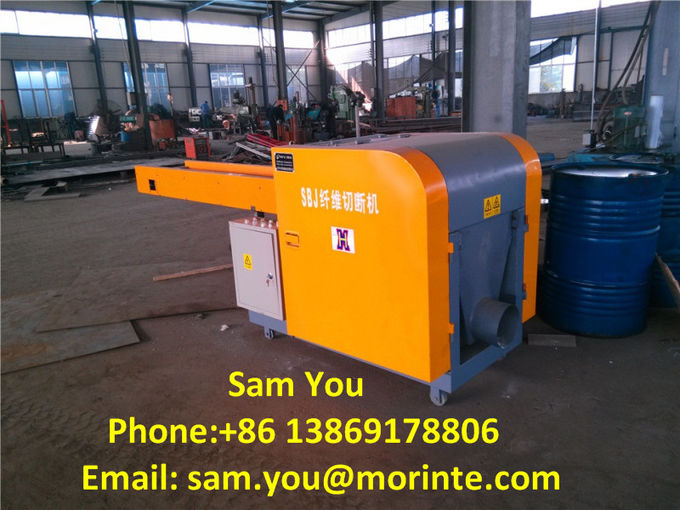 Waste yarn and fabric cutting machine for recycling purpose
